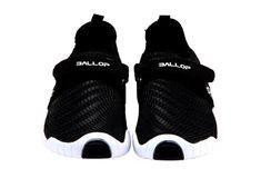 Patrol Black Velcro White Sole