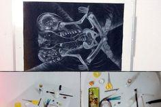 Proceso creativo, mesa de herramientas y elefantes universales