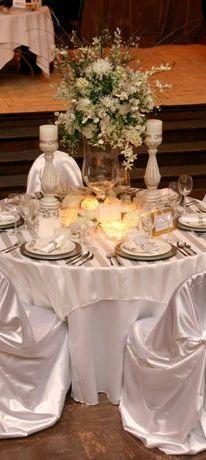 Marla's Linens  wow   wedding breakfast table