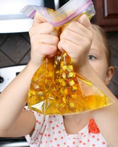 Thanksgiving Activity for Kids...Indian corn sensory bag