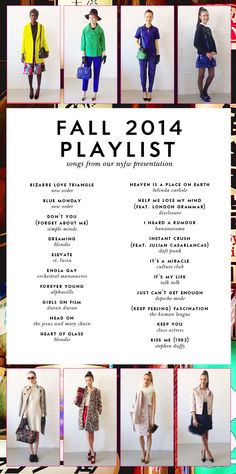 #behindthecurtain our fall 2014 playlist