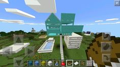 My floating castle with a swimming pool