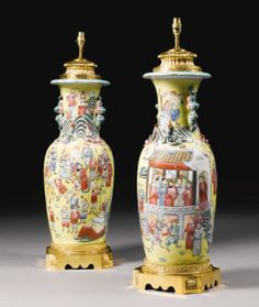 A pair of Chinese porcelain vases - Sotheby's