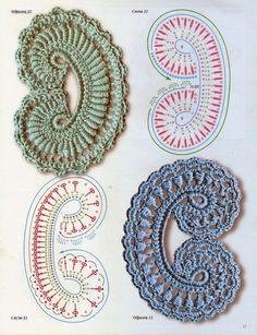 Crochet Irish Motif - Chart ❥ 4U // hf