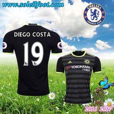Maillot Du FC Chelsea (DIEGO COSTA 19) Exterieur 2016-2017 Pas Cheres