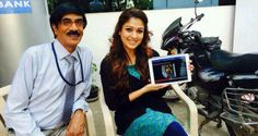 "Charming Nayanthara enjoyed to watching the first look teaser of our action & thriller movie ""Sathuranka Vettai"" and wished the entire team a grand success..."