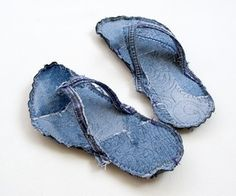 Indoor Bigfoot jeans recycle flip flops tutorial