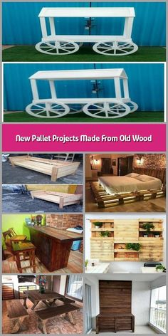 Here come the new pallet projects made from old wood which are amazingly adorable. These new pallet projects aimto boost the elegance of your home. Trendy Furniture, Sofa Furniture, Pallet Furniture, Furniture Ideas, Pallet Wall Decor, Pallet Bench, Pallet Tv, Garden Spaces, Old Wood
