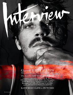 American actor Garrett Hedlund cover the December/January issue of Interview magazine, photographed by Robbie Fimmano and styled by Karl Templer. Magazine Front Cover, Magazine Cover Design, Male Magazine, Magazine Art, Ideas Magazine, Print Magazine, Free Book Cover Design, Magazin Covers, Garrett Hedlund