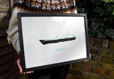 Thekla // Original HandPulled Screen Print on by TheRedSwallow, €25.00