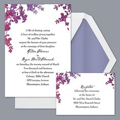 $171.95, 30%-70% Post consumer waste recycled. Purple Palette Floral - Invitation