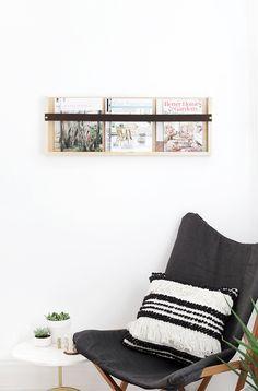 DIY Plywood & Leather Magazine Rack @themerrythought