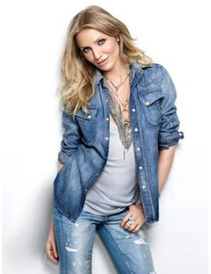 Cameron Diaz: Chic in Chambray