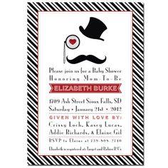 Little Man Mustache Bash Invitation  Inspector by ThenComesPaper