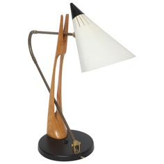 A Rare 1950's Table Lamp att. Gino Sarfatti for Lightolier | From a unique collection of antique and modern table lamps at http://www.1stdibs.com/furniture/lighting/table-lamps/
