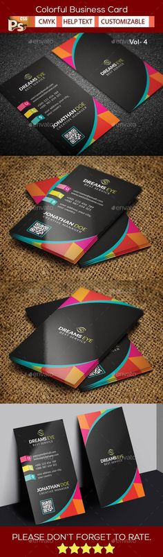 Colorful Business Card Template PSD #design Download: http://graphicriver.net/item/colorful-business-card-v4/13966798?ref=ksioks