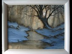 Woodland Dawn Part One An oil painting lesson by Alan Kingwell with