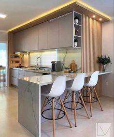 Kitchen Room Design, Kitchen Sets, Modern Kitchen Design, Home Decor Kitchen, Interior Design Kitchen, Kitchen Furniture, Gray Interior, Cuisines Design, Küchen Design