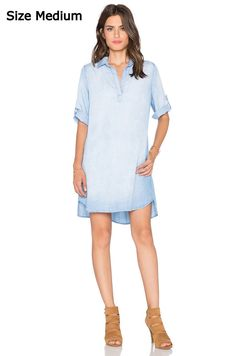a8a5517903b NEW  194 Anthropologie Blue A Line Shirt Dress by Cloth  amp  Stone  Chambray Shift M
