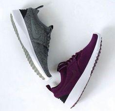 grey + purple nikes