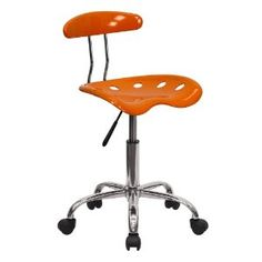 Lowest price online on Flash Furniture Vibrant Orange and Chrome Computer Task Chair with Tractor Seat Home Office Chairs, Home Office Furniture, Desk Chairs, Nice Furniture, Entryway Furniture, Modular Furniture, Furniture Removal, Apartment Furniture, Furniture Online