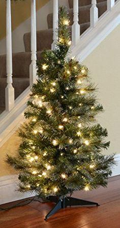 "36"" Pre-lit Iced Christmas Tree - http://www.christmasshack.com/christmas-trees/tabletop-christmas-trees/36-pre-lit-iced-christmas-tree/"