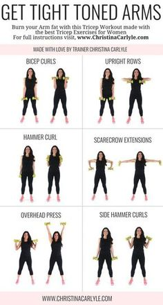 Arm workout for women & Best Arm Exercises for women that want tight toned arms. This arm workout routine was made with some of the& The post Arm Workout for Women that Want Tight Toned Arms appeared first on Griffith Diet and Fitness. Personal Fitness, Physical Fitness, Fitness Workouts, Arm Workouts At Home, At Home Workouts For Women, Home Workout Beginner, Arm Workout For Beginners, Best Arm Workouts, Gym Routine Women