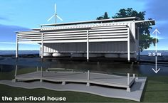 amphibious container, floating house, disaster relief housing, pakistan flood, green container international aid, shipping container housing...