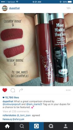 "The Balm Meet Matt(e) Hughes in ""Adoring"" dupe"