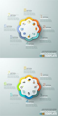Modern Infographic Options Template (2 Items) — Photoshop PSD #options #concept • Available here → https://graphicriver.net/item/modern-infographic-options-template-2-items/13043372?ref=pxcr