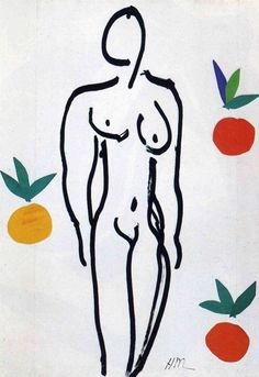 Henry Matisse  l  Nude with Oranges, 1951