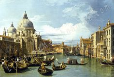 "Canaletto – The Entrance To The Grand Canal, Venice 1730 - 24"" X 36"" High Resolution Poster - Oil Painting Reproduction"