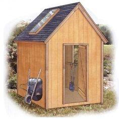 Free 8x10 Timber-frame Garden Shed Plan