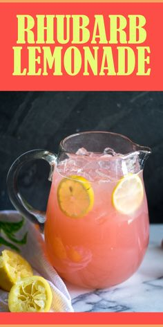 Rhubarb Lemonade Light, refreshing lemonade made with rhubarb simple syrup. The perfect way too cool down on a hot summer day. Rhubarb Juice, Rhubarb Syrup, Rhubarb Tea, Rhubarb Desserts, Rhubarb Recipes, Refreshing Drinks, Summer Drinks, Spring Cocktails, Cold Drinks