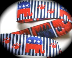 Woven Ribbon I am Proud to be a Republican Dog Paw by LesBonRibbon https://www.etsy.com/listing/83071784/woven-ribbon-i-am-proud-to-be-a?ref=sr_gallery_40&ga_search_query=republican&ga_order=date_desc&ga_page=1&ga_search_type=all&ga_view_type=gallery