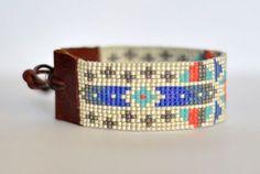 Renkli Miyuki Bileklik Loom Bracelet Patterns, Bead Loom Bracelets, Loom Patterns, Beading Patterns, Cuff Bracelets, Beading Ideas, Loom Beading, Bead Weaving, Jewelery