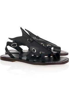 Bernardo horst jagged leather flat sandals