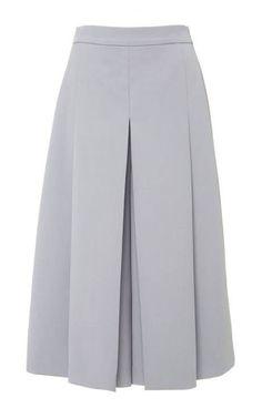 Lucy Wool Gabardine Culotte Vilshenko Fall 2015 - Under Wear Blouse And Skirt, Skirt Pants, Dress Skirt, Midi Skirt, Fashion Pants, Hijab Fashion, Corset Pants, Plus Size Corset, Modelos Fashion