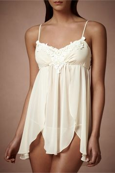 Star Magnolia Chemise Lingerie Set from BHLDN, lace details
