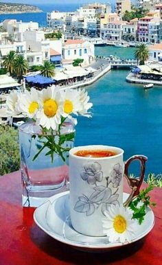 Coffee Is Life, Coffee Time, Coffee Shop, Coffee Cups, Tea Cups, Coffee Around The World, Bicycle Painting, Breakfast Tea, Good Morning Flowers