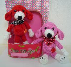 #haken, gratis patroon, Nederlands, amigurumi, knuffel, hond, speelgoed, kraamcadeau, Fenna en katoen
