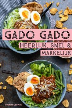 Gado Gado - FunkyFood by Niki Gado Gado, Good Healthy Recipes, Real Food Recipes, Food Porn, Good Food, Yummy Food, Food Wishes, Happy Foods, Everyday Food
