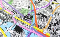 Hand-drawn city maps by Jenni Sparks
