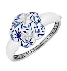 Porcelain Cobalt Bangle by Belle Étoile