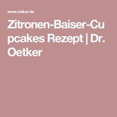 Zitronen-Baiser-Cupcakes Rezept   Dr. Oetker