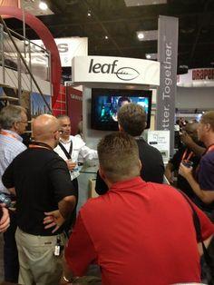 Leaf draws a huge crowd still for their 20x20 HDMI switch #Control4 #CEDIA12