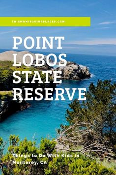 Located in Monterey California Point Lobos State Reserve is perfect for a family getaway. Monterey Bay California, California With Kids, California Travel, Northern California, Travel With Kids, Family Travel, Point Lobos State Reserve, Places To Travel, Places To Go