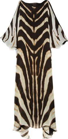 Roberto Cavalli Animalprint Silkchiffon Dress in Animal Animal Print  Fashion 643820704