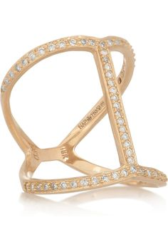 [Anita Ko] Rose Gold + Diamond 'Bar' Ring
