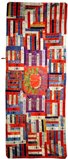Sheep Ribbon Quilt! The ribbons were won by Edwin Moore in 1907 at various State Fairs where he showed his sheep. He lived in the Okemos, Michigan area. The quilt was made by either his wife or his mother.
